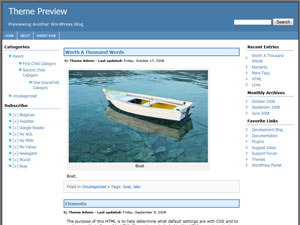 AndyBlue theme for WordPress
