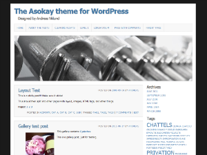 Asokay theme for WordPress