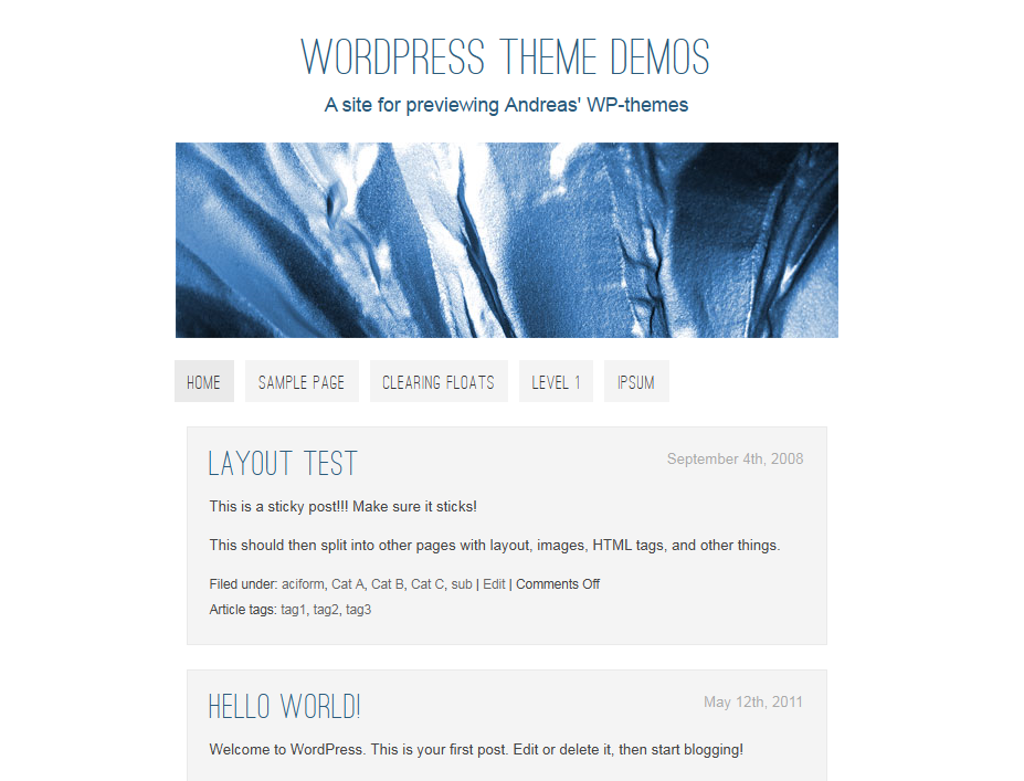 Basic Single theme for WordPress