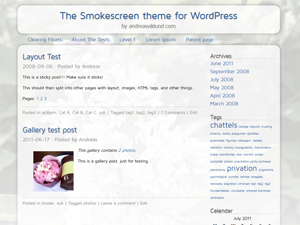 Smokescreen theme for WordPress
