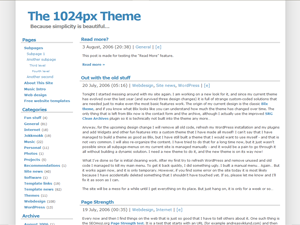 1024px theme for WordPress