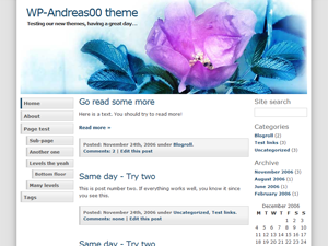 WP-Andreas00 theme for WordPress
