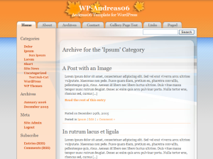WP-Andreas06 theme for WordPress
