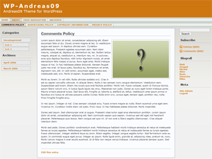 WP-Andreas09 theme for WordPress