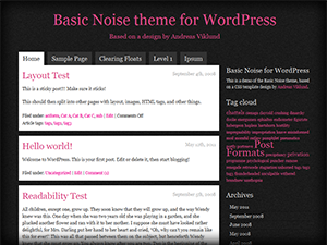 Basic Noise theme for WordPress