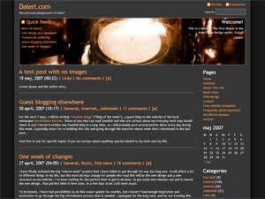 Daleri Dark theme for WordPress