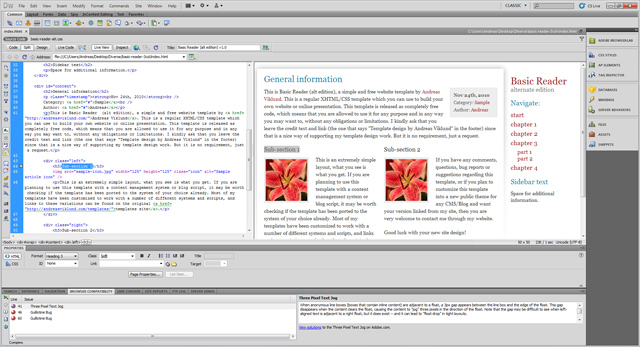 Exploring dreamweaver cs5 for Basic dreamweaver templates