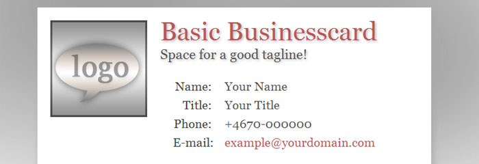 Business Card Template » Basic Business Card Template - Free Card ...
