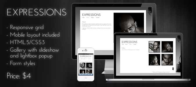 Expressions – Premium HTML/CSS template | andreasviklund.com