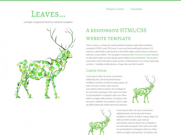 New responsive HTML/CSS template: Leaves | andreasviklund.com