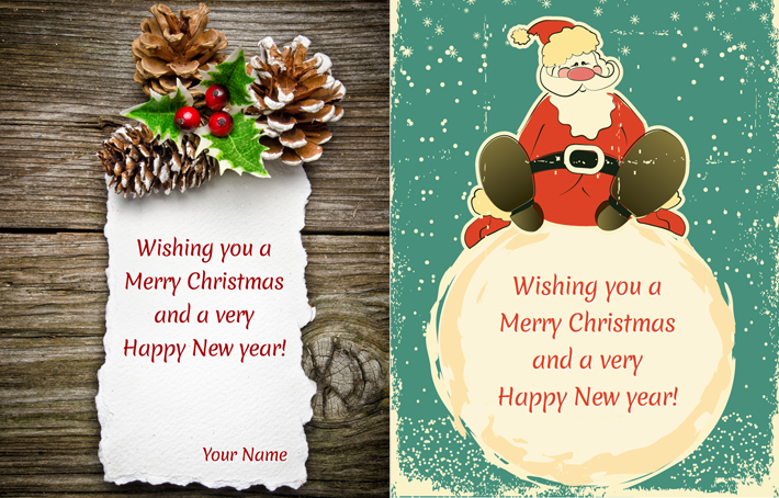 christmas cards psd template